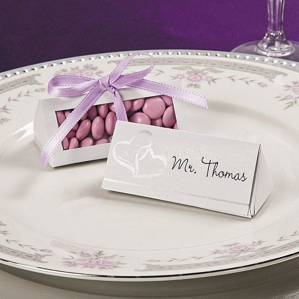 25 Heart Place Card Favour Box