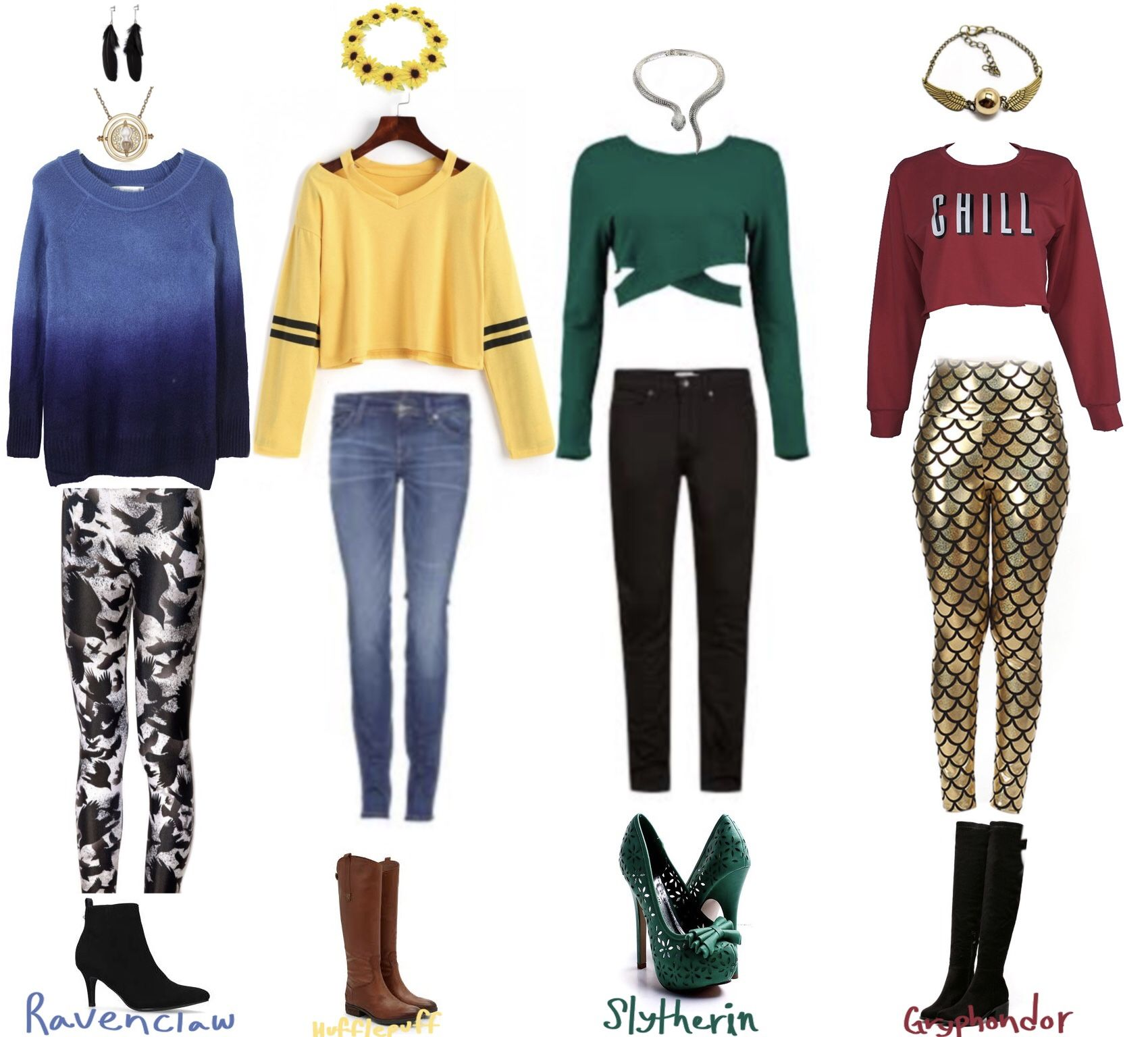 Hogwarts Houses Outfits Harry Potter Outfits Harry Potter Dress House Clothes