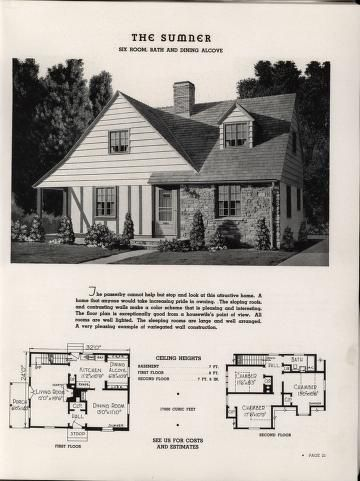 Select homes of moderate cost. | House plans | Pinterest | Vintage ...