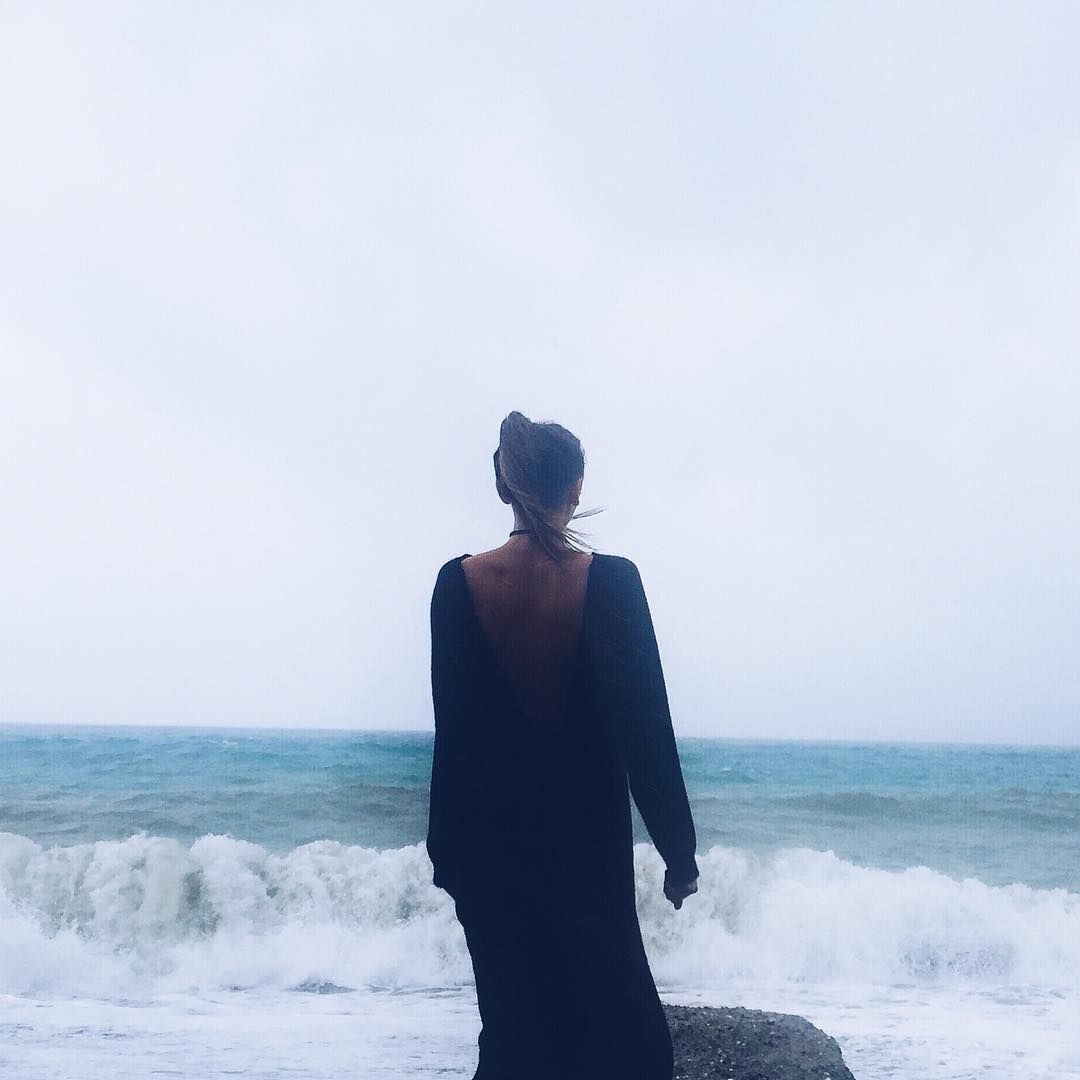 Walking by the #sea wearing Wannabe Decor long #dress with open back!