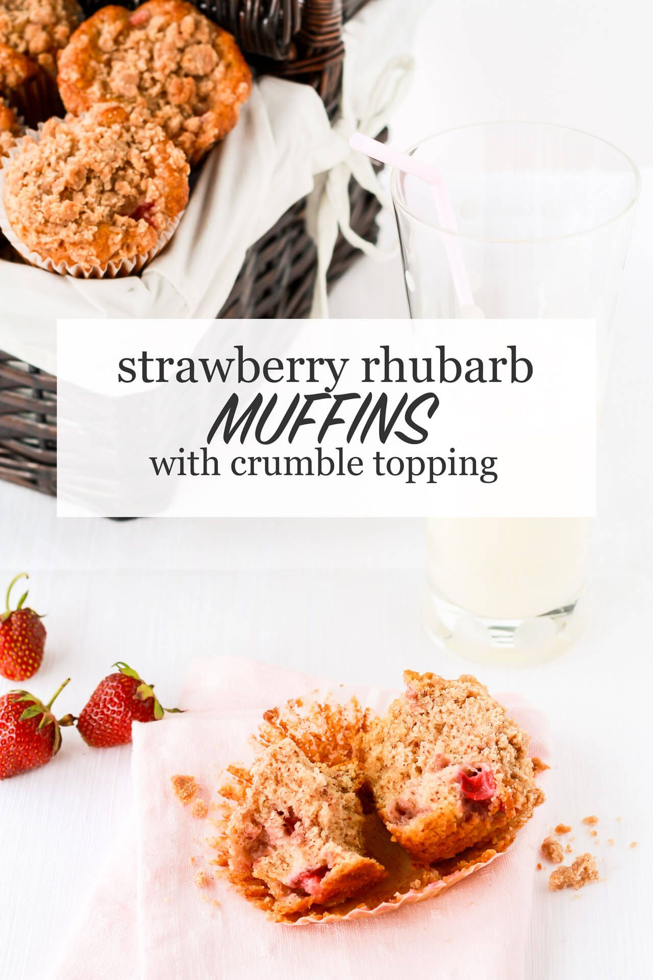 Strawberry Rhubarb Muffins With Streusel Topping Recipe With Images Rhubarb Recipes Muffins Rhubarb Muffins Recipes
