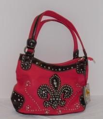 'Pink HaleyBeez Fleru De Lis Handbag NWT' is going up for auction at  2pm Mon, Apr 29 with a starting bid of $10.