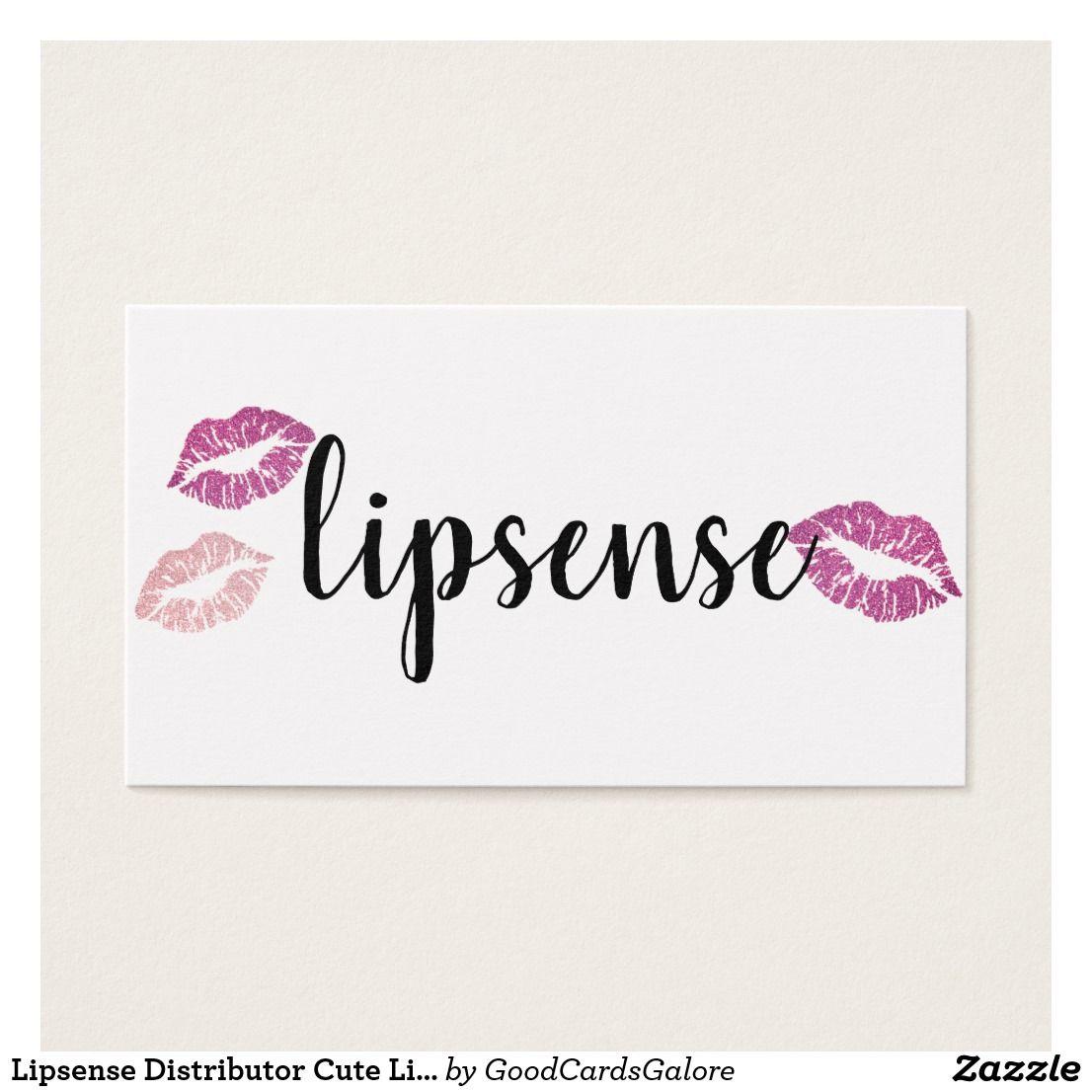 Lipsense Distributor Cute Lips Business Cards