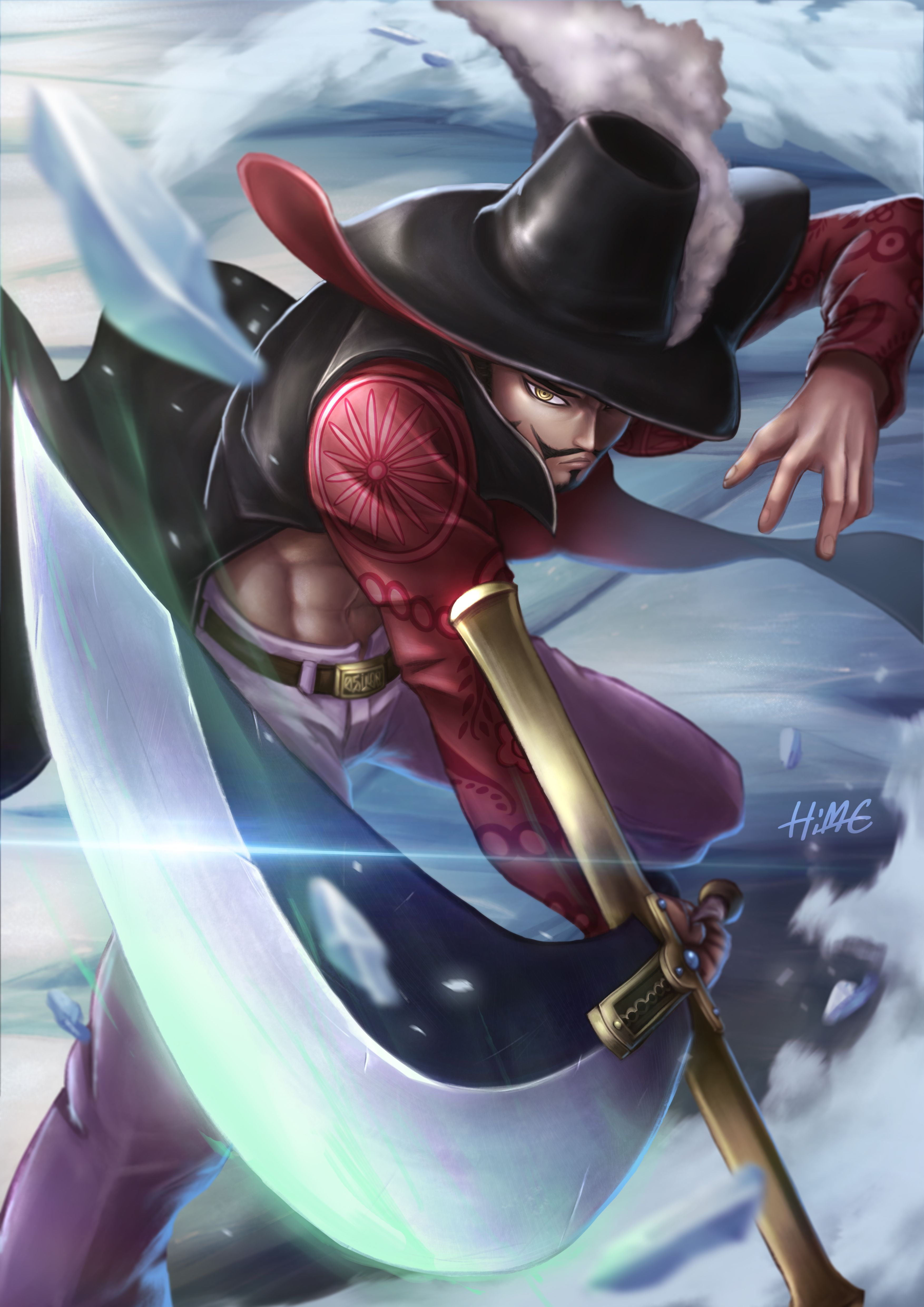Dracule Mihawk One piece images, One piece, Anime one