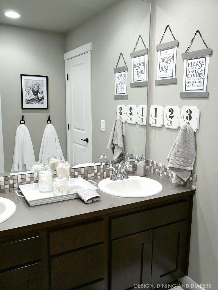 His And Her Bathroom Decor Beautiful Kids Bathroom Decor In 2020 Bathroom Design Decor Kid Bathroom Decor Bathroom Decor