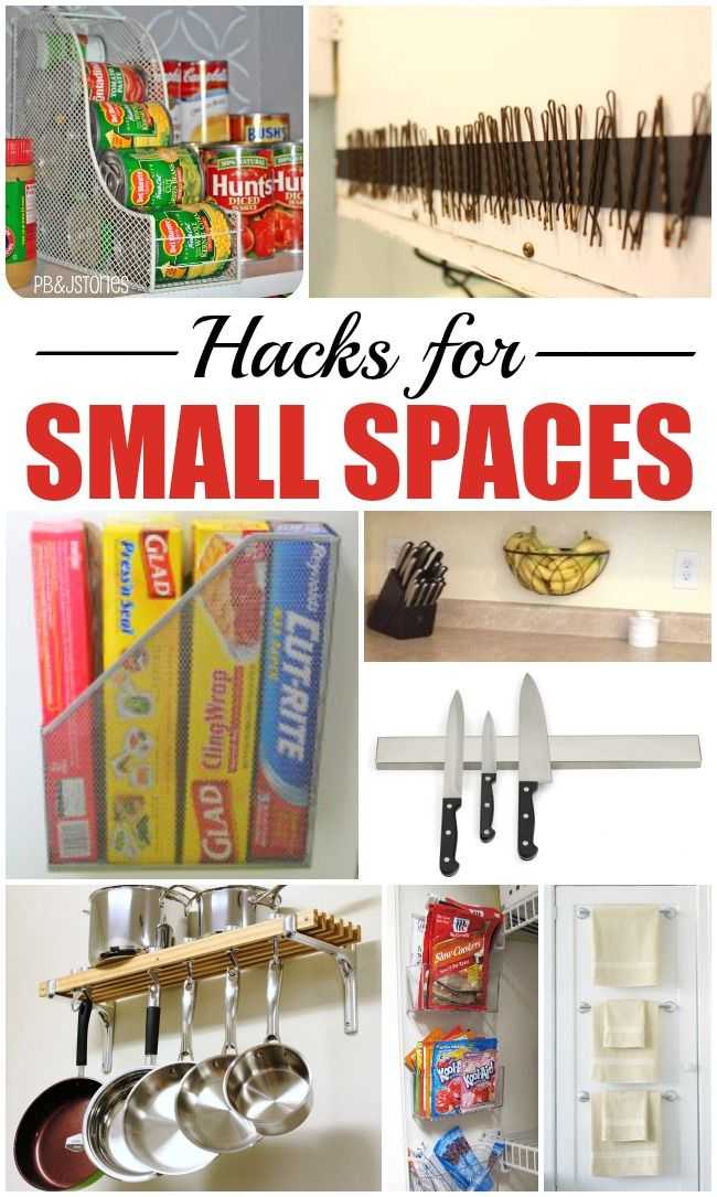 10 Hacks for Small Spaces | Diy home decor projects, Mason ...