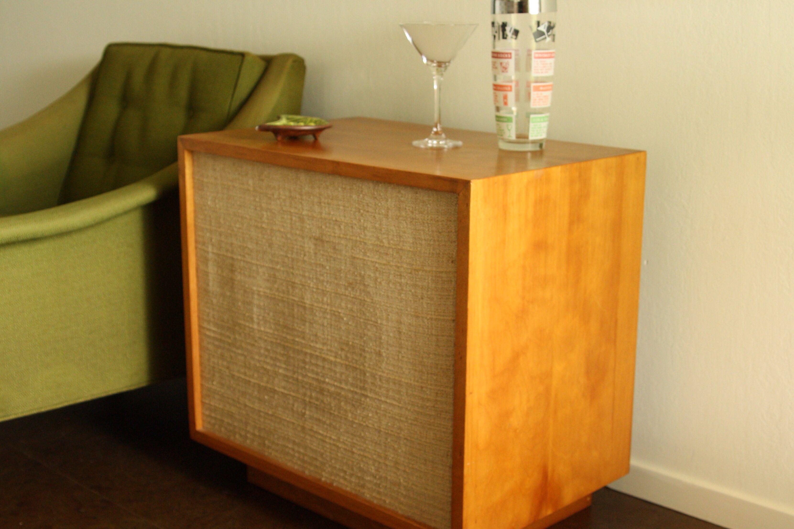 Vintage Speaker End Table Home Decor Music Bedroom Table [ 2214 x 3322 Pixel ]