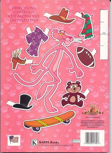 Pink Panther paper doll