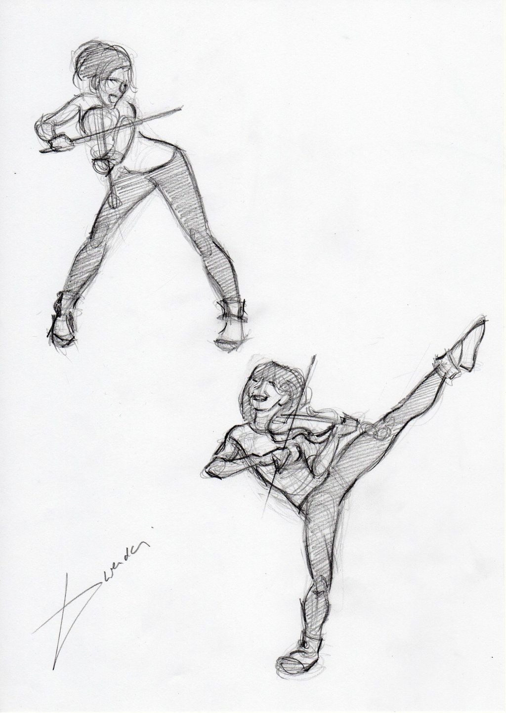 Drawing reference Brave Enough t Lindsey stirling
