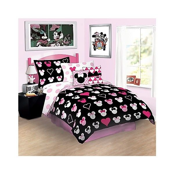 Reversible Love Minnie Mouse forter Bedding