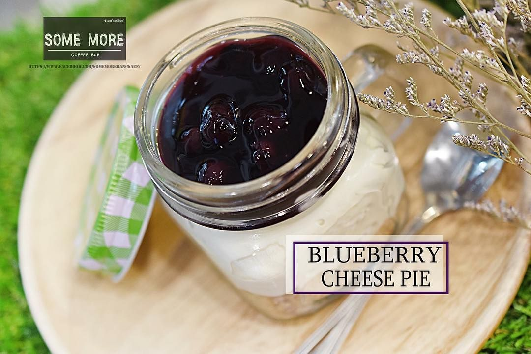 Blueberry cheese pie Homemade หวานๆมนๆเปรยวๆ  #blueberries #cheese #pie #homemade #yummy #bangsaen #cafe #somemore
