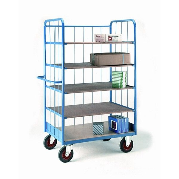 Shelf Truck with Rod Superstructure Shelves, Rubber