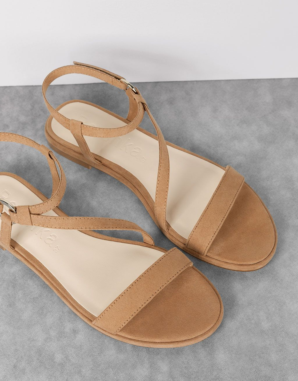 bsk flat strappy sandals. discover this and many more items in