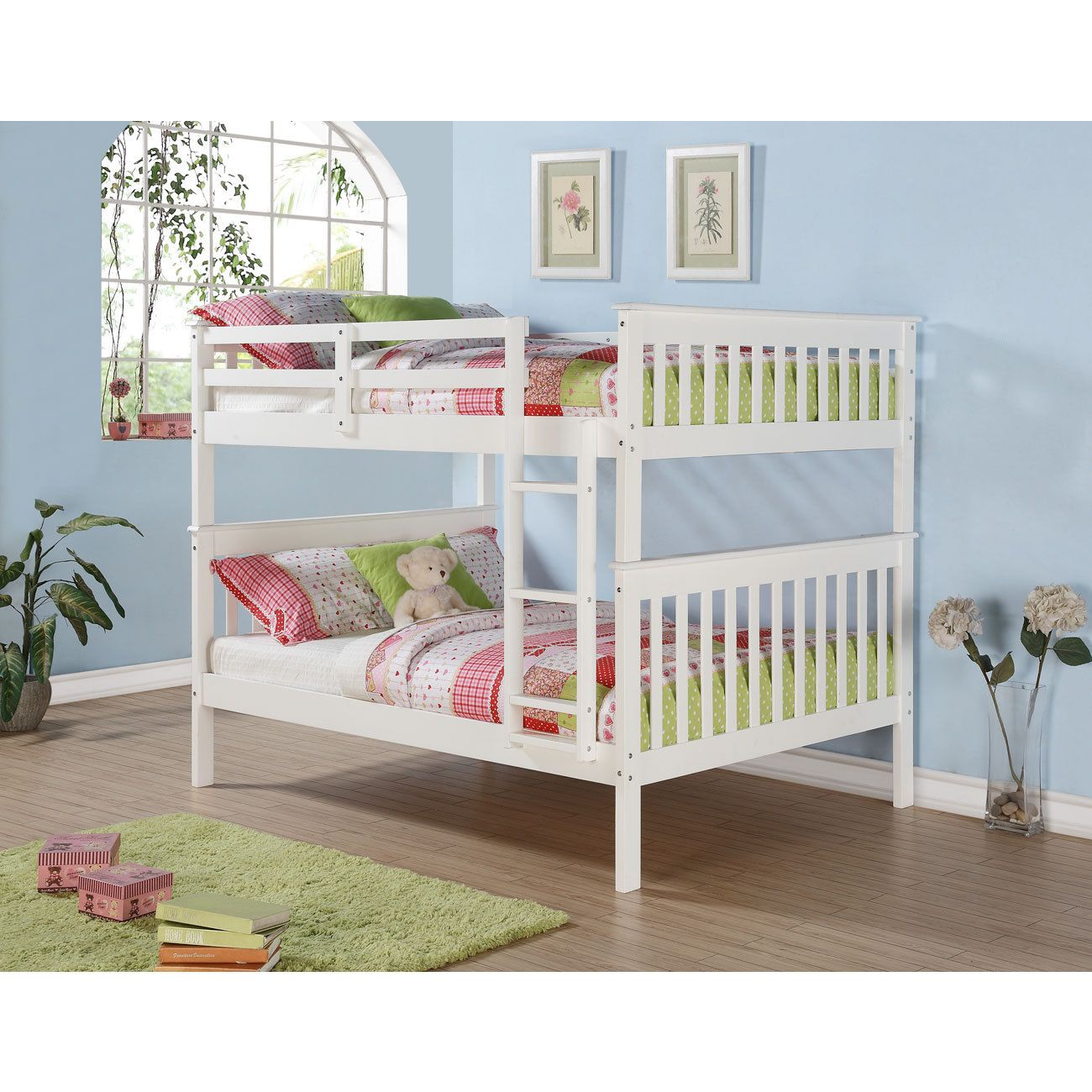 Mission Full Bunk Bed and Optional Storage Drawers or Twin Trundle ...