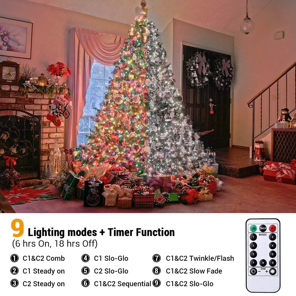 Low Voltage Christmas Lights.Lyhope Christmas Lights 9 Modes Low Voltage 72ft 200 Led