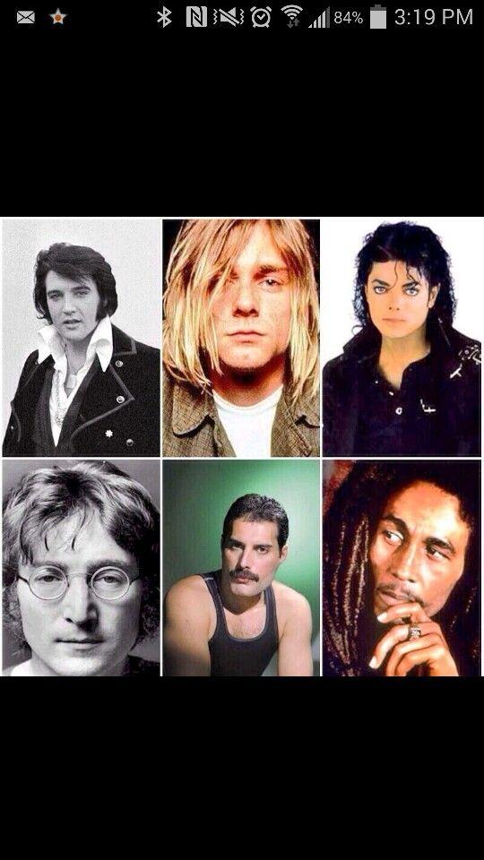 Elvis Presley Kurt Cobain Michael Jackson John Lennon