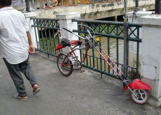 Homemade chopper bike
