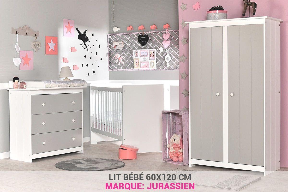 Chambre Bebe Gris Clair Avec Lit 60x120 Pas Cher Chambre Bebe Gris Chambre Bebe Decoration Chambre