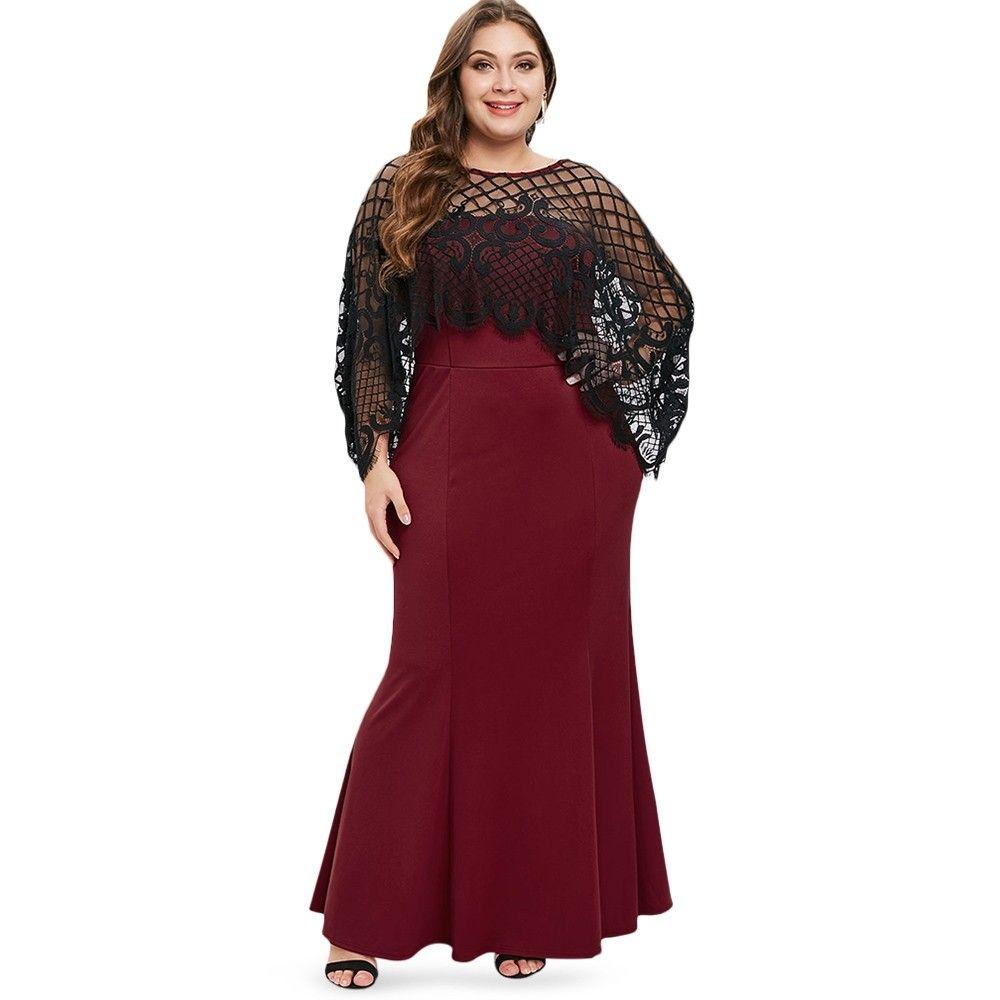 Plus Size Mermaid Dress Plaid Top Red Wine 3s88542812 Size 5x Plus Size Club Dresses Strapless Casual Dress Fashion Clothes Women [ 1000 x 1000 Pixel ]