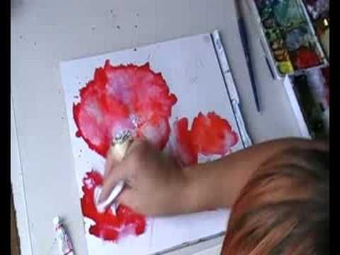 Poppy Watercolour Demo Watercolor Poppies Art Techniques