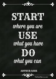 Image Result For Arthur Ashe Quote Start Where You Are Hanging
