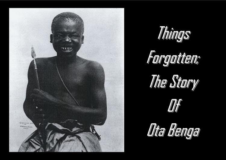 Ota Benga of the Congo in 1906 as an exhibit in the Bronx
