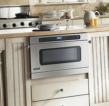 The Viking Undercounter Drawermicro Oven Has A Slim Design And