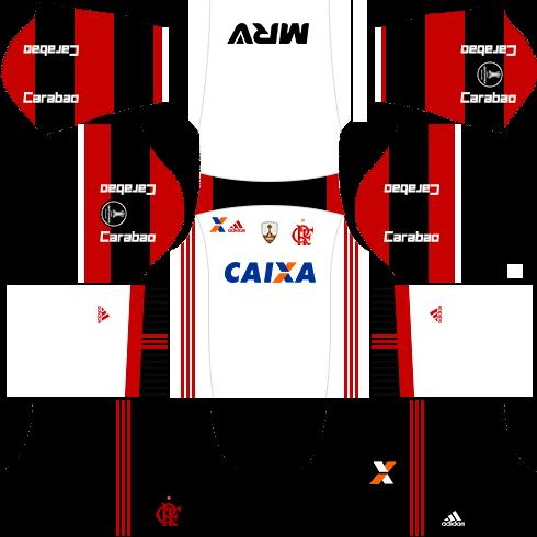 Kit Flamengo Dls17 Uniforme Libertadores Fora De Casa Flamengo Uniforme Novos Uniformes