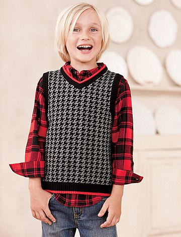 Houndstooth Sweater Vest - so adorable!