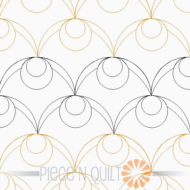 Olive Pantograph Pattern Digital Machine Quilting Pinterest