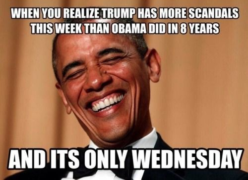Very Funny Meme Sarcastic : Happy monday trump try not to mess yourself up too much this week
