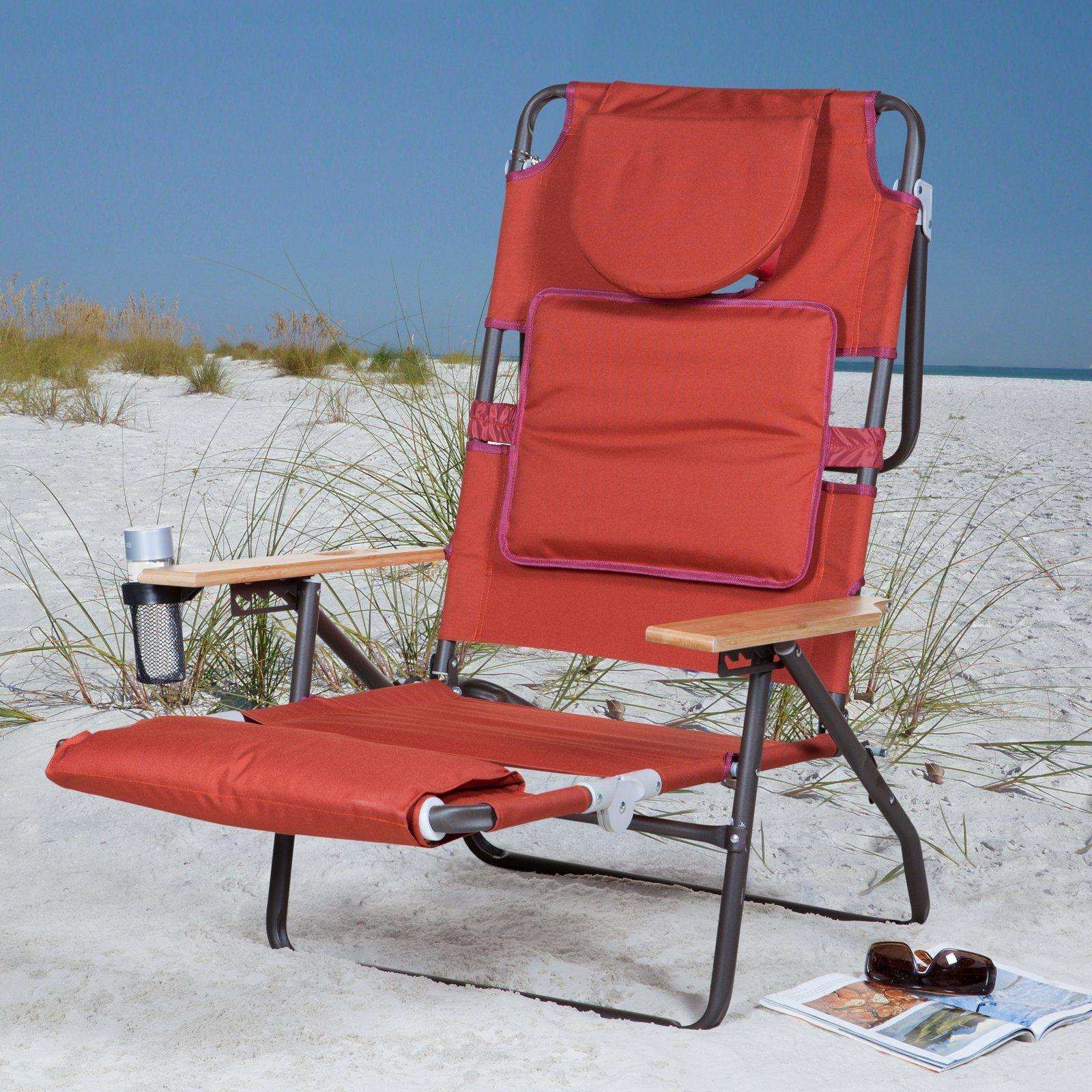 Deluxe Padded Ostrich Sport 3N1 Beach Chair Beach