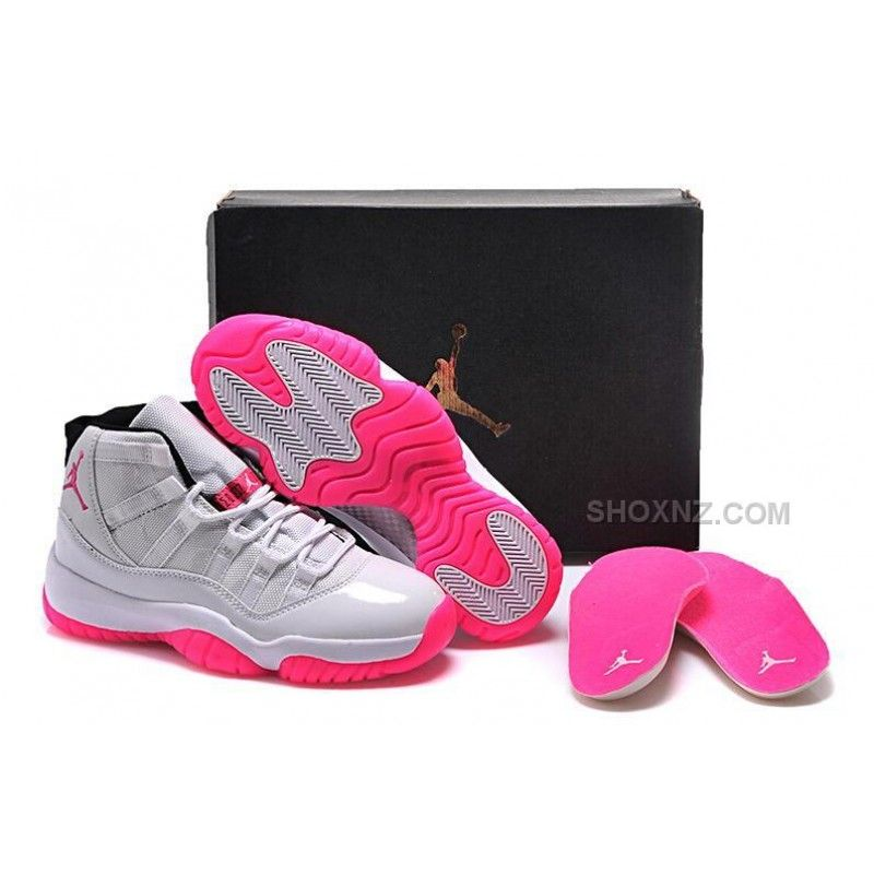 2543355e3714 2015 Nike Air Jordan 11 XI Retro Silver Pink Basketball Shoes Womens  Sneakers