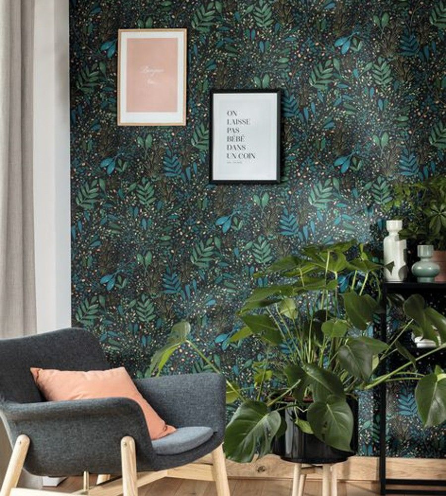 Joy Wallpaper by Caselio in 2020 Green life, Wallpaper