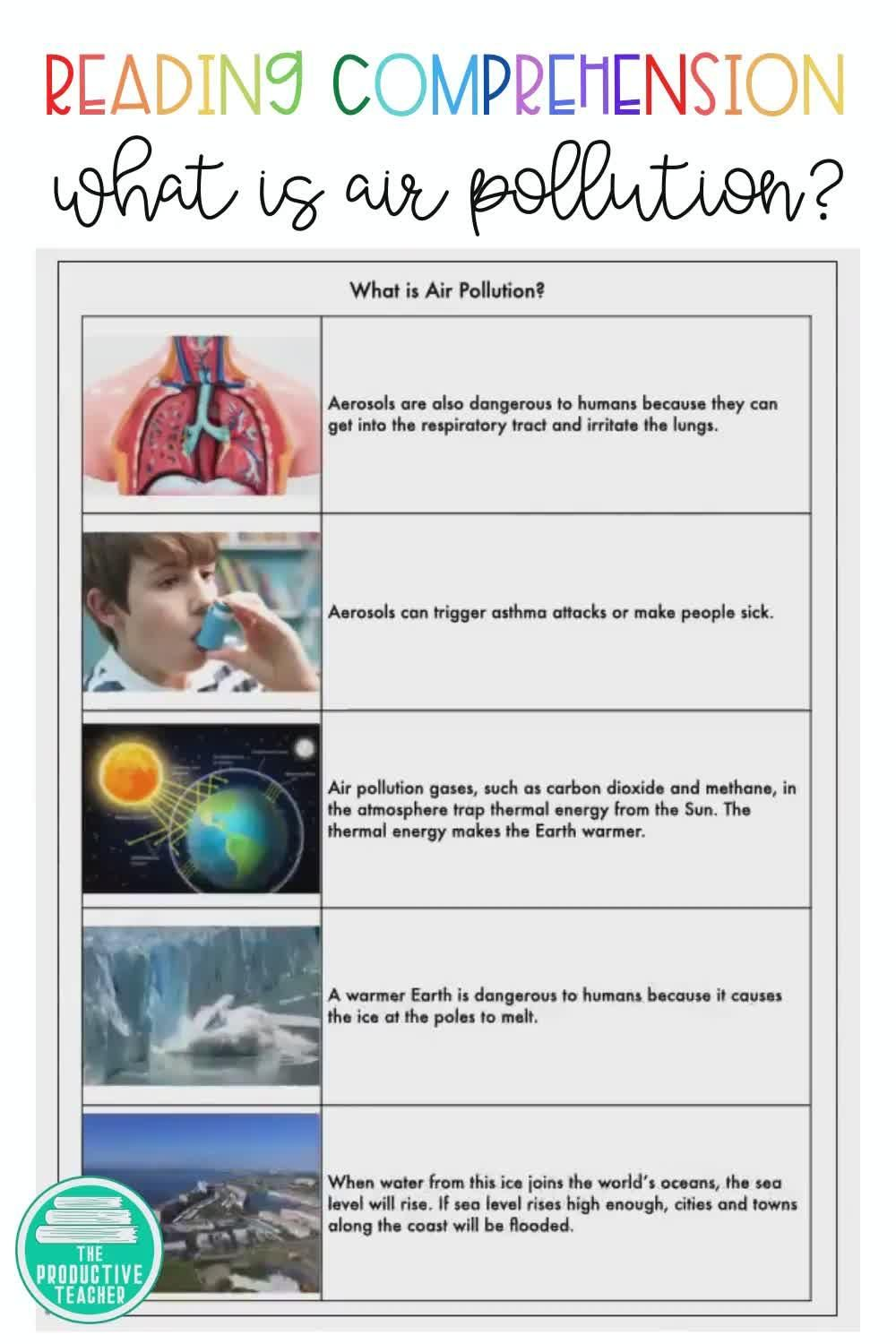 What Is Air Pollution Reading Passage Video Earth Science Activities Reading Passages Science Teaching Resources [ 1500 x 1000 Pixel ]
