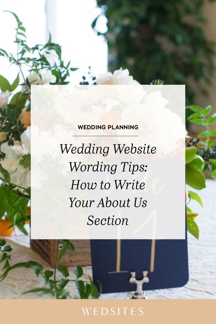 Wedding Website Wording Tips: How to Write Your About Us Story in