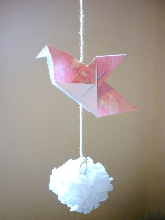Origami Dove Paper Mobile By LenaLime On Etsy
