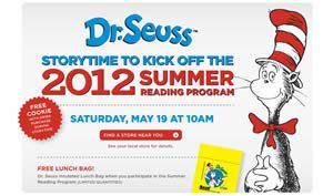 FREE Dr. Seuss Insulated Lunch Bag at BAM on 5/19 on http://www.icravefreebies.com