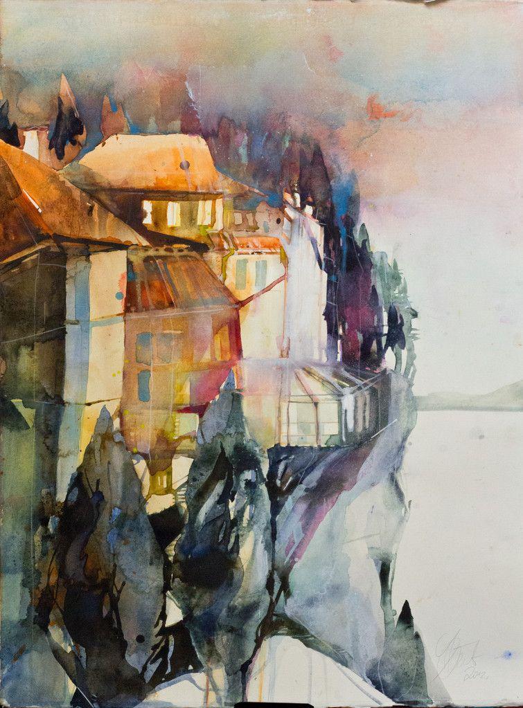 Landschaften Elke Memmler Abstrakte Kunst Malerei Aquarell
