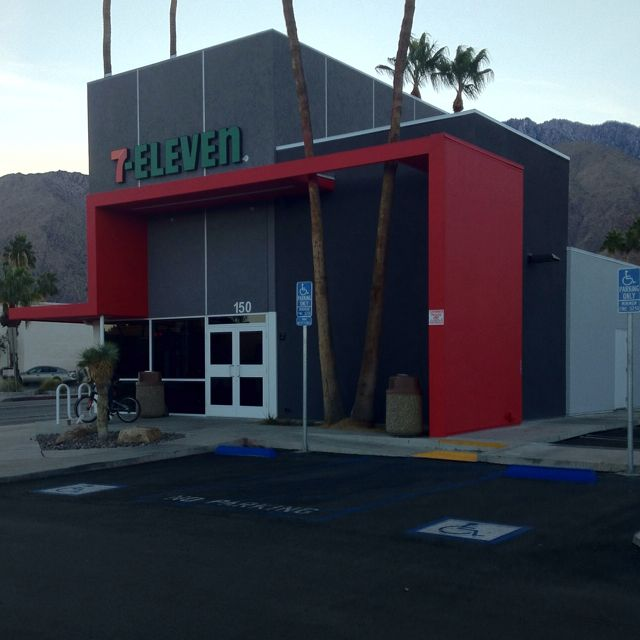 In Palm Springs even 7-11 is modern!