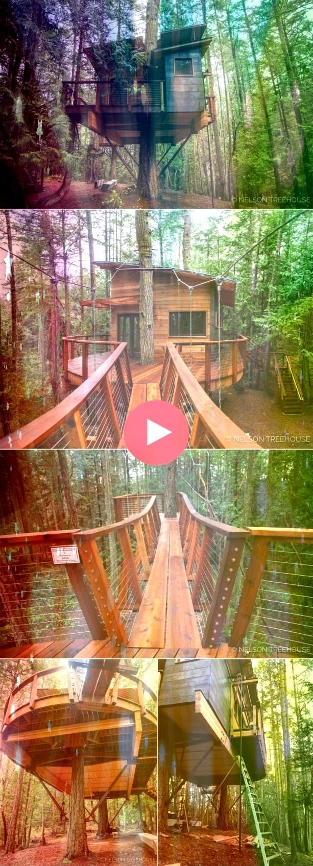 treehouse has a total of 415squarefeet floor space including the loft acce The treehouse has a total of 415squarefeet floor space including the loft acce The treehouse ha...