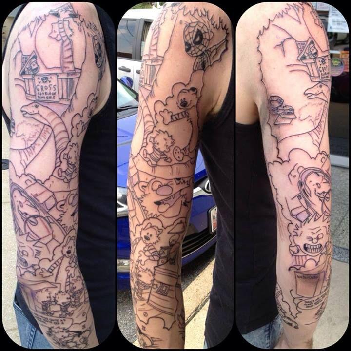 Tumblr Mq61l9tmkq1qzabkfo1 1280 Jpg 720 720 Calvin And Hobbes Tattoo Calvin And Hobbes Tattoos