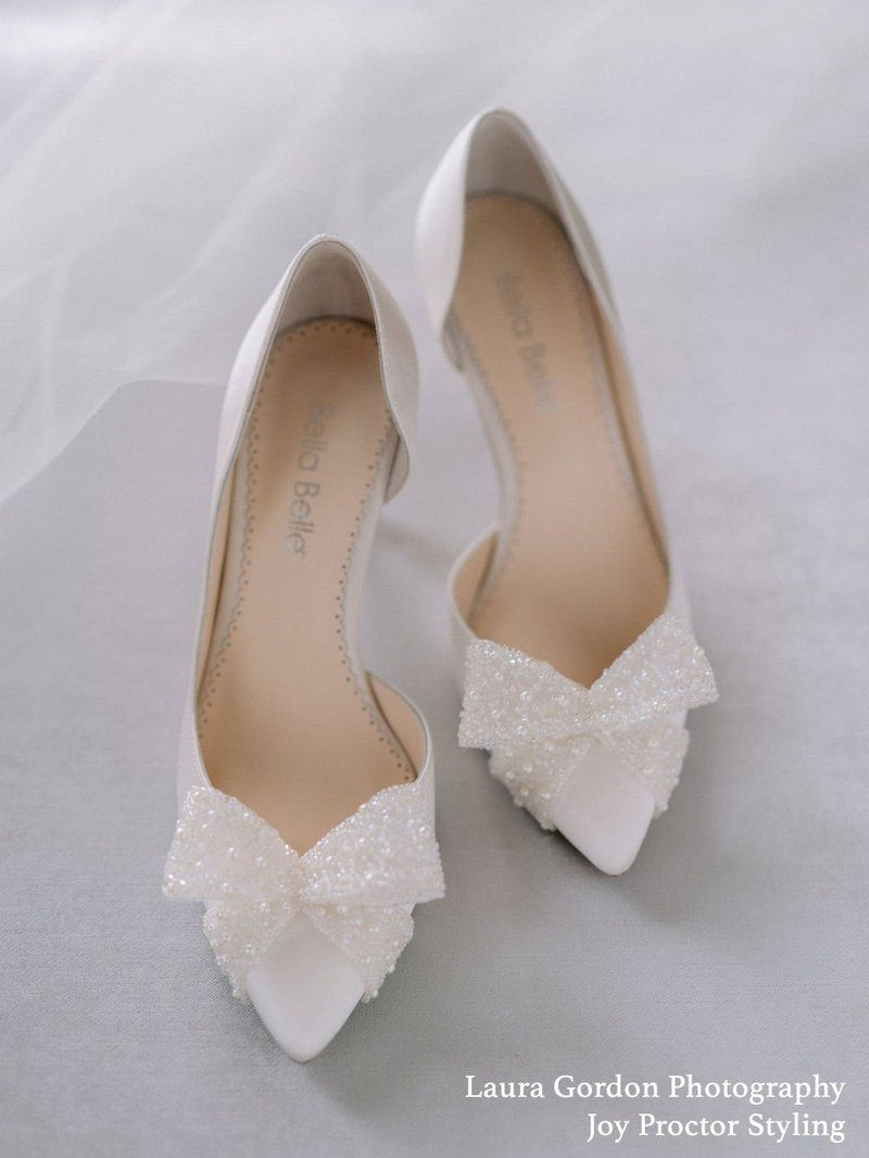 D Orsay Wedding Bow Pump Shoes In 2021 Bride Shoes Bridal Shoes Wedding Heels