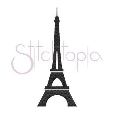 Eiffel Tower Embroidery Design Stitchtopia Pinterest Machine