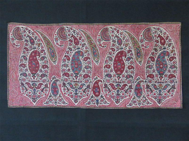 Persia Isfahan school antique qalamkari print – painting Circa: 1900 or earlier  Size: 42″ X 21″ – 107 cm X 53 cm | TurkishFolkArt