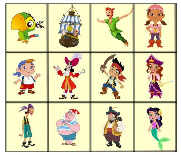2 juegos de memoria de Jake y los Piratas gratis | Juegos de memoria ...