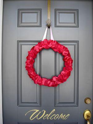 A Valentine quickie Wreaths, Thrifty decor chick and Thrifty decor - vinylboden f r k che