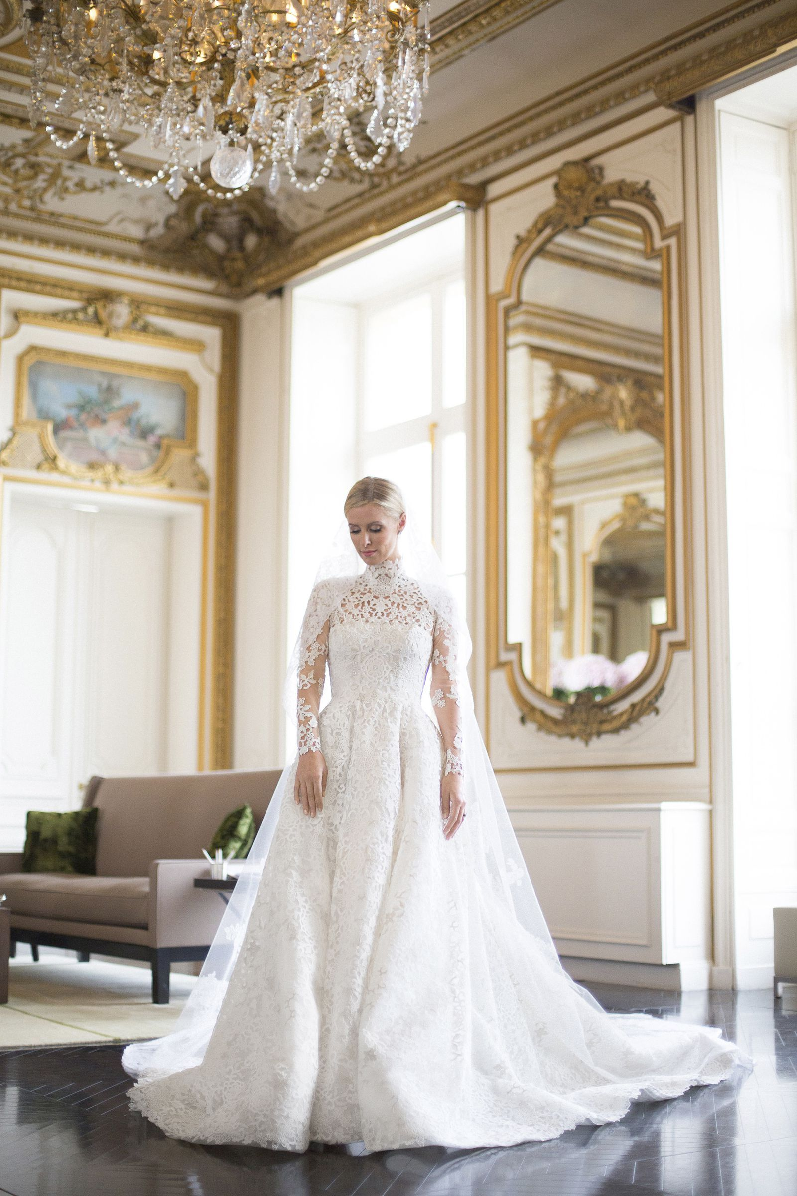 Exclusive See Nicky Hilton S Final Wedding Gown Fitting Valentino Wedding Gowns Celebrity Wedding Dresses Valentino Wedding Dress