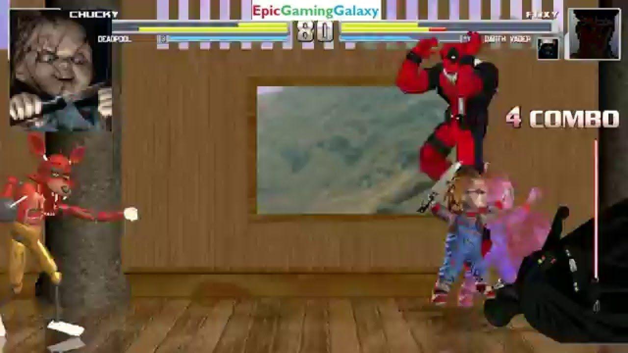 Chucky The Killer Doll And Deadpool VS Darth Vader Foxy In A MUGEN Match