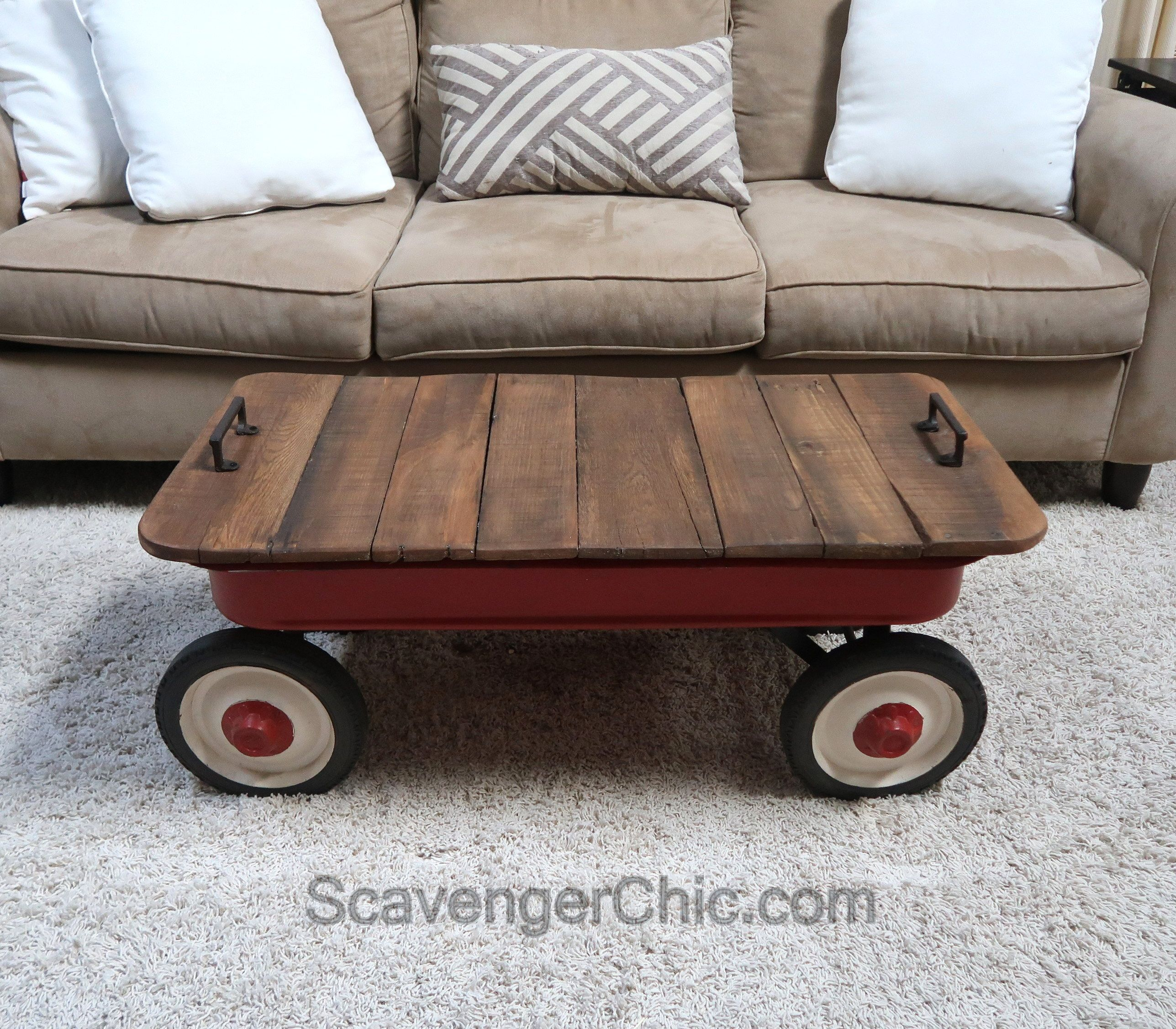 Little Red Wagon Coffee Table Scavenger Chic Red Wagon Coffee
